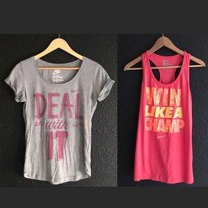 Nike (BUNDLE) women's shirts!